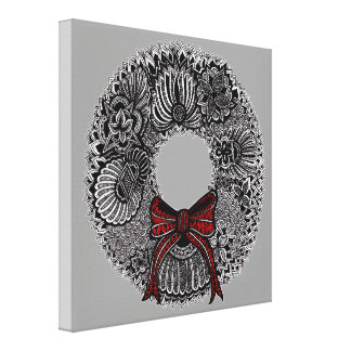Wreath Gallery Wrapped Canvas