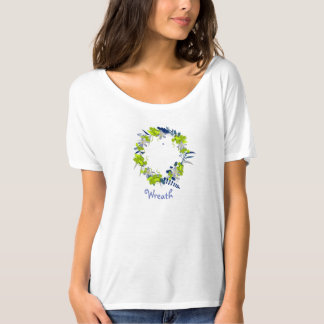 "Wreath ""Grape Love"" Flowers Floral T-Shirt"