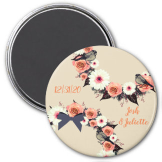 """Wreath """"Gray Bow"""" Flowers Floral Vector Magnet"""