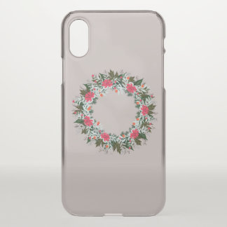 """Wreath """"Gray Red"""" Apple iPhone X Clearly Deflector iPhone X Case"""