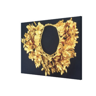 Wreath, Greek, late 4th century BC (gold) Canvas Prints