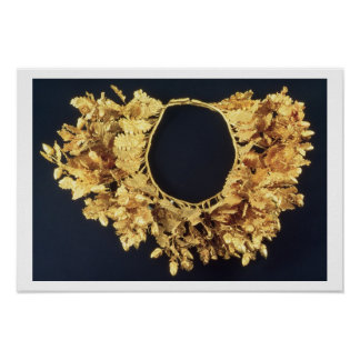 Wreath Greek late 4th century BC gold Print