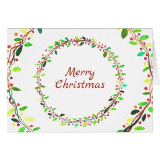 Wreath holiday christmas greeting card