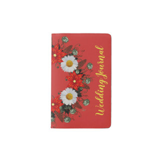 "Wreath ""Merry Wedding"" Flowers Floral Notebook"
