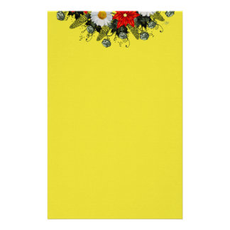 """Wreath """"Merry Wedding"""" Flowers Floral Stationery"""