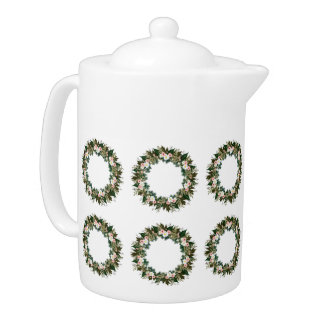 "Wreath ""Mini Flower"" Flowere Floral Teapot"