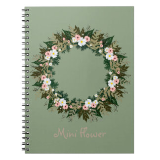 "Wreath ""Mini Flower"" Flowers Floral Notebook"