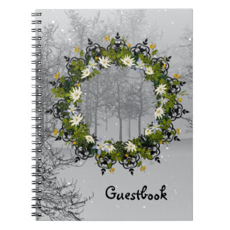 "Wreath ""Mini White"" Flowers Floral Notebook"