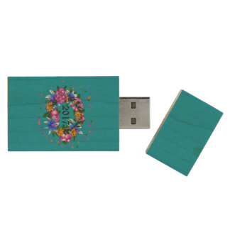 Wreath of Promise USB Drive Wood USB 2.0 Flash Drive