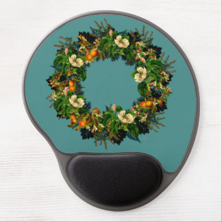 """Wreath """"Old Gold"""" Flowers Floral Mousepad"""