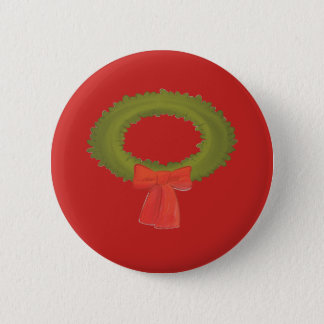 Wreath on a Red Button