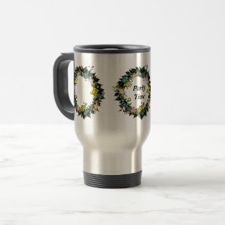 """Wreath """"Party Time"""" Flowers Floral Mug"""