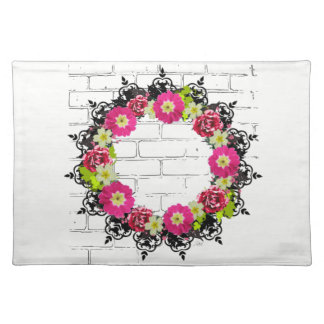 """Wreath """"Pink Grape"""" Flowers Floral Placemat"""