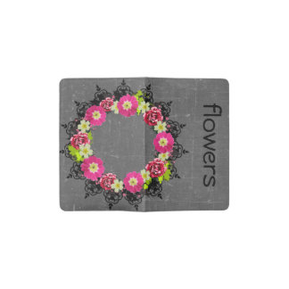 "Wreath ""Pink Grape"" Flowers Floral Pocket Notebook"