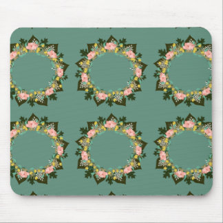 "Wreath ""Pink Love"" Flowers Floral Mousepad"