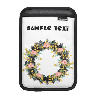 """Wreath """"Pink Yellow"""" Flowers Floral Laptop Sleeve"""