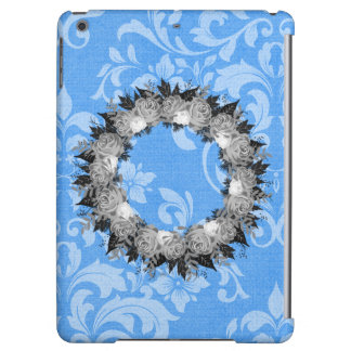 "Wreath ""Pretty Blue"" Flowers Floral iPad Case"
