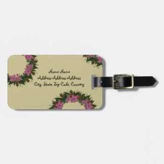 """Wreath """"Purple Dot"""" Flowers Floral Luggage Tag"""