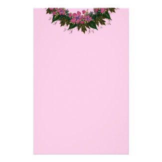 "Wreath ""Purple Dot"" Flowers Floral Stationery"