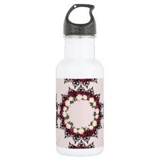 "Wreath ""Red Leaf"" Flowers Floral Water Bottle"