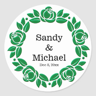Wreath roses stickers
