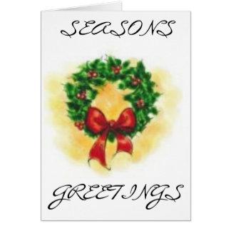 wreath, SEASONS, GREETINGS Card