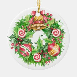 Wreath - SRF Round Ceramic Decoration