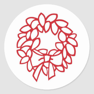 wreath round sticker