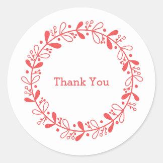 Wreath thank you sticker