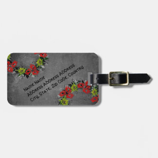 "Wreath ""Triple Flower"" Flowers Floral Luggage Tag"