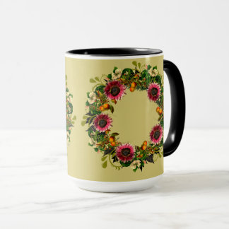 "Wreath ""Victoria Wedding"" Flower Floral Vector Mug"