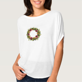 "Wreath ""Victoria Wedding"" Flowers Floral T-Shirt"