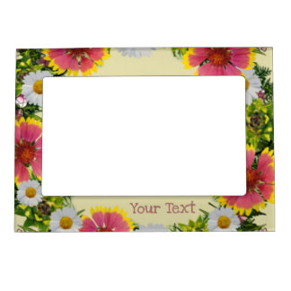 Wreath Wedding Flowers Floral Picture Photo Framed Magnetic Picture Frame
