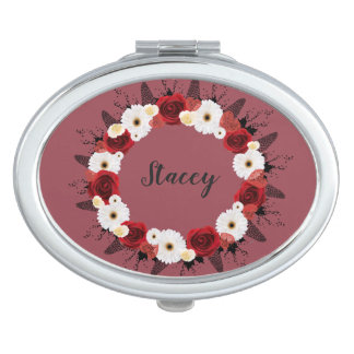 Wreath Wedding Flowers Floral Vector Red Stacey Travel Mirrors