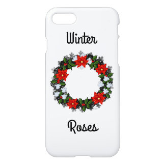 """Wreath """"Winter Roses"""" Apple iPhone 8/7 Glossy iPhone 8/7 Case"""