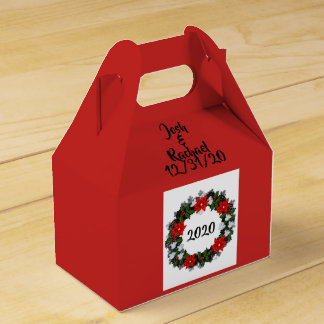 """Wreath """"Winter Roses"""" Flowers Floral Favor Boxes"""