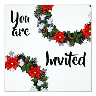 """Wreath """"Winter Roses"""" Flowers Floral Invitation"""