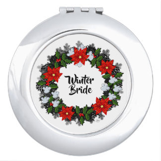 "Wreath ""Winter Roses"" Flowers Floral Mirror"
