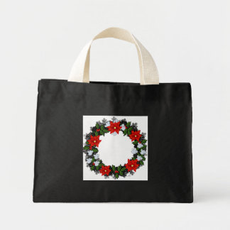 "Wreath ""Winter Roses"" Flowers Floral Tote Bag"