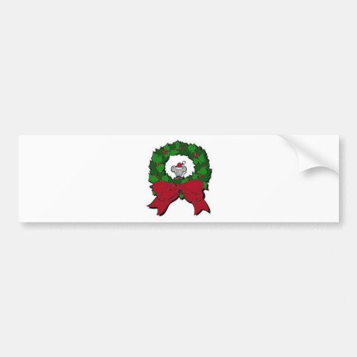 wreath with mouse bumper stickers