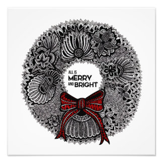 Wreath with Text Art Photo