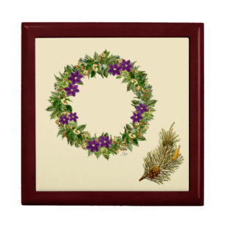 "Wreath ""Wow Purple"" Flower Floral Jewelry/Gift Box"