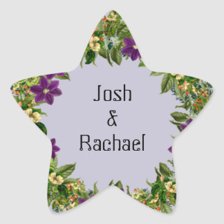 "Wreath ""Wow Purple"" Flowers Floral Stickers"