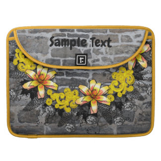 """Wreath """"Yellow Yellow"""" Flower Floral Laptop Sleeve"""
