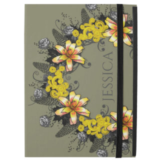 "Wreath ""Yellow Yellow"" Flowers Floral iPad Case"