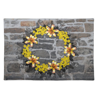 "Wreath ""Yellow Yellow"" Flowers Floral Placemat"
