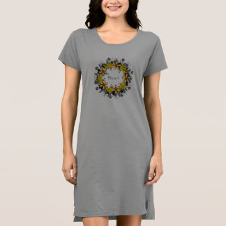 """Wreath """"Yellow Yellow"""" Flowers Floral T-shirt"""
