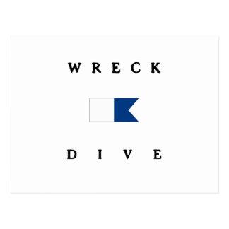 Wreck Alpha Dive Flag Postcard