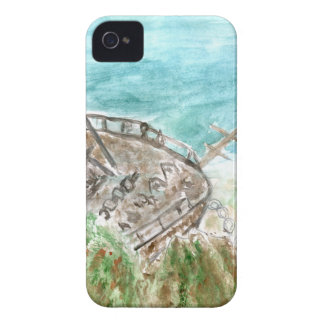 Wreck Boat Art iPhone 4 Cover