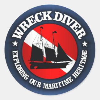 Wreck Diver (Ship)(r) Round Sticker